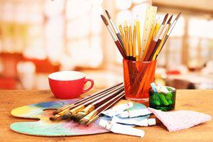 Ilustración de Cómo Pintar con Acrílicos