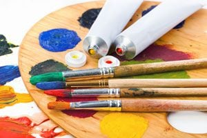 Ilustración de Cómo Pintar con Pinturas al óleo. Consejos