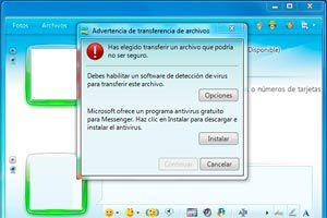 Como transferir un archivo con Messenger