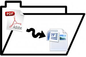 Ilustración de Cómo Pasar un Archivo PDF a Word