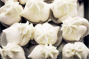Merengue italiano firme cocido en el horno