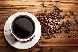 Taza de café molido