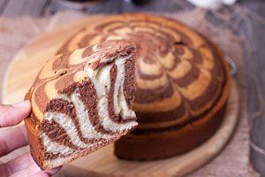 Cómo hacer una torta marmolada