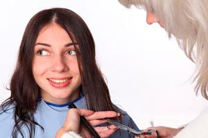 Ilustración de Peinados y cortes de cabello para un rostro cuadrado