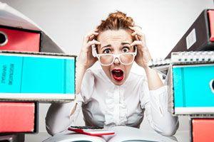 Ilustración de Cómo disminuir el estrés en la oficina