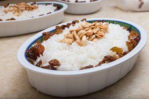 Ilustración de Cómo cocinar arroz con maní y pasas