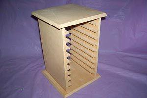 Cómo hacer un porta CD de madera