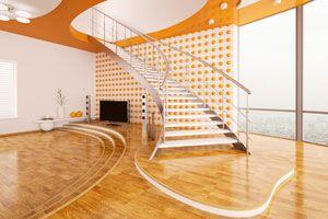 Cómo decorar una sala con escalones. Disposición de los muebles.