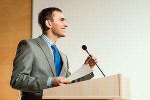 Ilustración de Cómo prepararse para un discurso