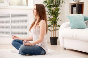 Ilustración de Cómo hacer meditación budista