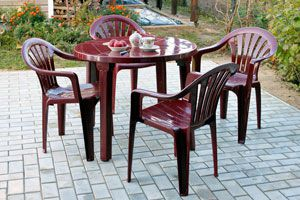 Cómo conservar los muebles de plástico del patio