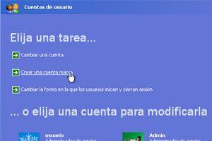 Cómo crear usuarios en Windows XP