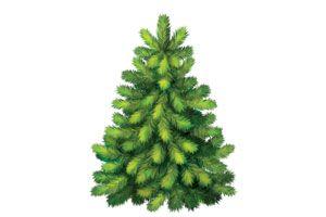 Ilustración de Cómo hacer pinos de adorno para Navidad
