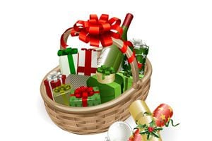 Ilustración de Cómo hacer una canasta navideña para empleados y ayudantes