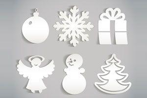 Adornos de Papel para el árbol de Navidad