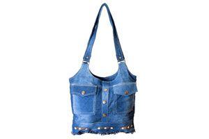 Pasos para hacer un bolso con un jean o vaquero. Una buena idea de reciclar un jean para fabricar un bolso útil y original.