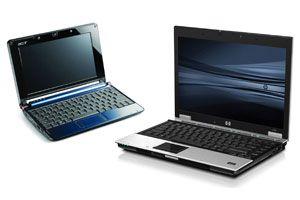 Ilustración de ¿Comprar una Notebook o una Netbook? Comparación.