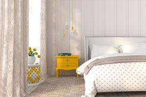 Ilustración de Cómo decorar un dormitorio femenino