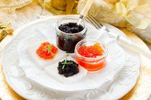 Ilustración de Cómo servir y comer el caviar
