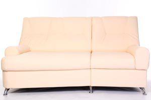 Sofá de cuero color beige. Limpieza y mantenimiento