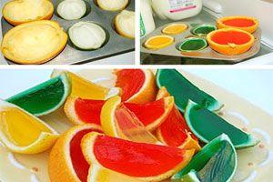 Cómo hacer gajos de gelatina para decorar tragos