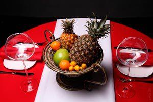 Ilustración de Cómo hacer un centro de mesa frutal para año nuevo