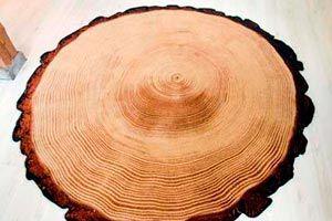 Ilustración de Cómo hacer una alfombra con forma de tronco