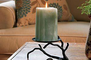 Ilustración de Cómo hacer un candelabro con una simple rama