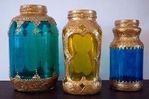 Cómo hacer Lámparas Marroquíes con Frascos