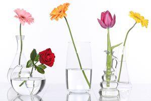 Cómo convertir un vaso en un florero original