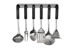 C mo colgar los utensilios de cocina for Utensilios de cocina para zurdos
