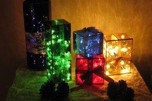 Cómo hacer Lámparas con forma de Caja de Regalo para Navidad