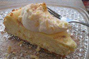 Cheesecake Casero con crema encima