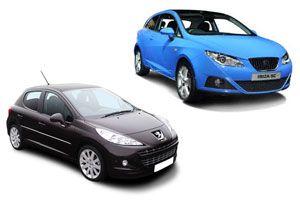 Ilustración de Comparativa Peugeot 207 y Seat Ibiza