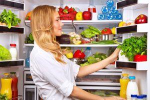 Ilustración de Cómo colocar los alimentos en el refrigerador