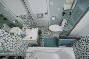 Ilustración de Cómo aprovechar el espacio en un baño pequeño