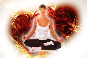 Ilustración de Meditación para atraer el amor