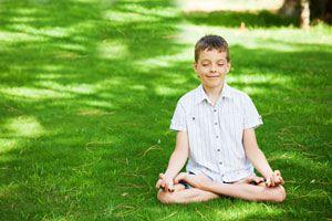 Ilustración de Meditación para niños