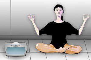 Ilustración de Meditación para adelgazar