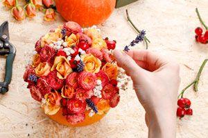 Cómo hacer un centro de mesa para el otoño