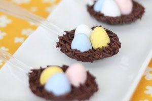 Cómo hacer nidos de chocolate