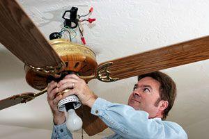 Ilustración de Cómo instalar un ventilador de techo