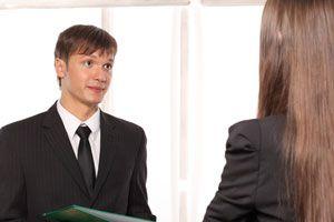Ilustración de Vestimenta formal para una entrevista de trabajo