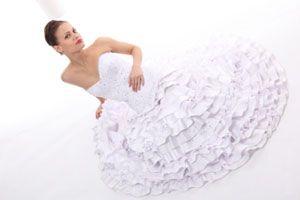 Ilustración de Cómo probar un vestido de novia