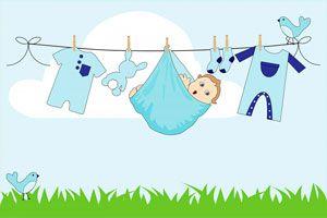 Ilustración de Cómo Cuidar la Ropa del Recién Nacido