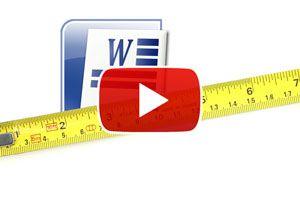 Ilustración de Cómo cambiar las unidades de medida en Word - Video