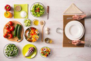 Ilustración de 3 recetas light para la cena
