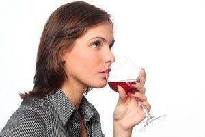 Ilustración de Aprendiendo a oler un vino