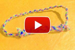 Cómo hacer un nudo corredizo para pulseras - Video