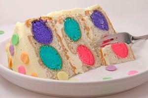 Cómo hacer un pastel colorido para un cumpleaños. Pastel de cumpleaños con puntos de colores por dentro